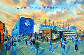 new goodison going to the match print